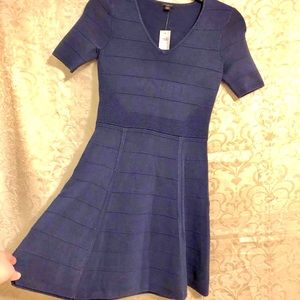 Navy thick Ribbed Ann Taylor Dress